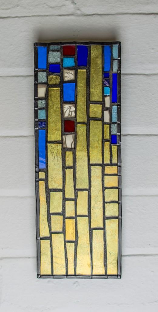 gold leaf mosaic panel